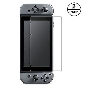 Nintendo Switch Schutzfolie, [2 Stück] WEOFUN Displayschutzfolie Panzerfolie für Nintendo Switch 2019/2018/2017 [0.25mm, 9H, Ultra-klar]