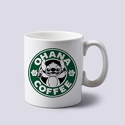 Acen Ohana Kaffee Tasse aus Keramik, weiß, 11Oz