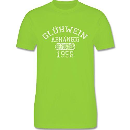 Weihnachten - Glühwein-Abhängig - L190 Herren Premium Rundhals T-Shirt Hellgrün