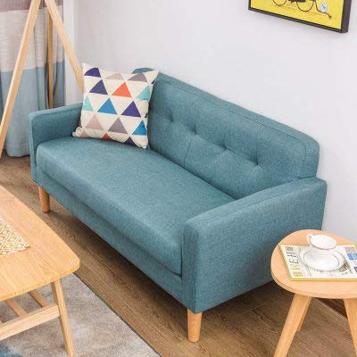 QZXCD Sofá Creativo Sencillo y Moderno Sofá de Tela Sencilla Sofá nórdico de Tres Asientos con combinación de sofá nórdico (76x64x74CM) N