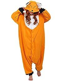 wotogold Pijama de Zorro Animal Trajes de Cosplay Adultos Unisex