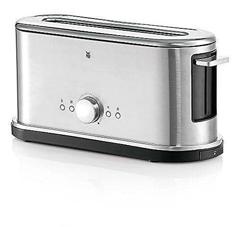 WMF LINEO Toaster, 900 W, 10 Bräunungsstufen, Brötchenaufsatz, Countdown-Funktion, cromargan matt/silber