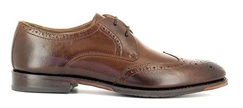 Gordon & Bros Herrenschuhe Mirco A500409 Klassischer rahmengenähter Schnürhalbschuh mit Derbyschnürung im Brogue Stil für Anzug, Business und Freizeit Brown