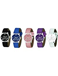 Zeit Multicolor Analog Watch - Pack of 5