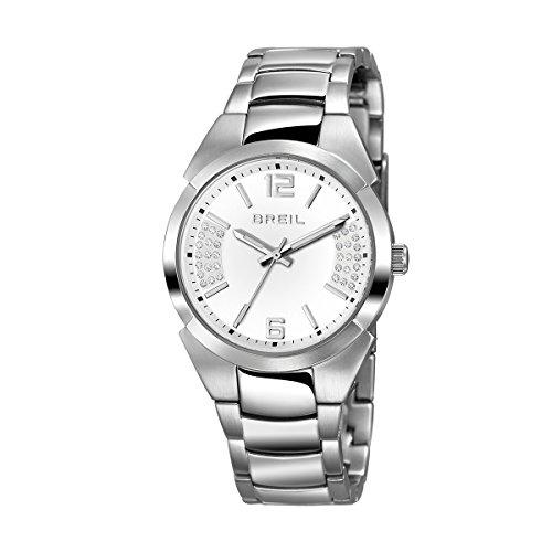 70eaa7678636 Breil tw1399 Mujer Gap Acero Inoxidable Funda y correa esfera blanca reloj  de cuarzo