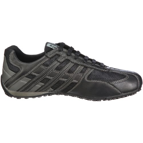 Geox U Snake Art.M, Baskets mode homme Noir (C9204)