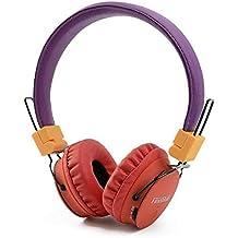 KOBWA Auricular Bluetooth inalámbrico Plegable, Auriculares estéreo compactos con micrófono en línea Reducción ...