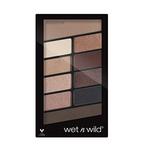 Wet n Wild - Lidschatten Palette Make-up, 10 hochpigmentierte Farben - Mix aus Schimmer + Matt in einer Lidschattenpalette, Nude Awakening, 1 Stk. 21,8g