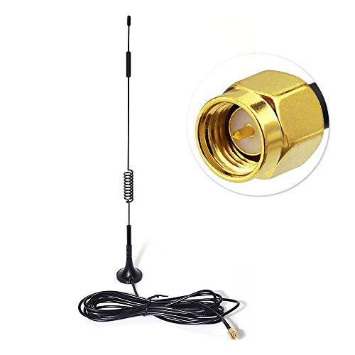 Eightwood 868mhz-4G Antenne 4G LTE 7dbi SMA Homme Booster Signal avec Cable 3m RG174 pour sans-abri CCU2 CC1101 Netgear TP Lien Dlink Belkin Huawei