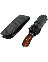 """Leebotree Parapluie coupe-vent, compact et pliable, parapluie pour voyage et sorties en plein air. Ouverture et fermeture automatique. Une canopée de 42"""" 210T tissu (Gris)"""