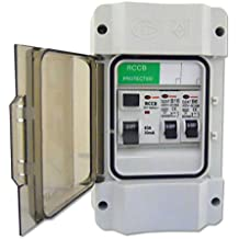 Garage Consumer Unit with 63a/30mA RCD & 1x16amp & 6amp MCB's IP55