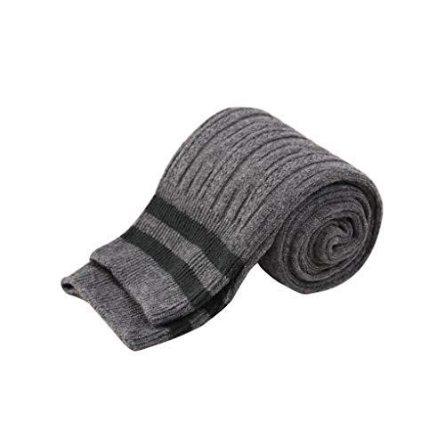 lindahaot 1 Paar Frauen-Mädchen-Herbst-Hoch Schlauch-Socken-Streifen-Muster School Girls Socken (Mädchen Kostüm Oberschenkel Hohe Schlauch)