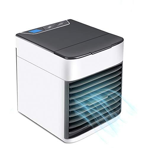 Mini Luftkühler, Neu 2019 3 in 1 Air Cooler, Klimaanlage Luftkühler Mobile Klimageräte, Luftbefeuchter und Luftreiniger, Super wind speed Tragbare Klimaanlage Luftkühler für Büro, Hotel, Küche