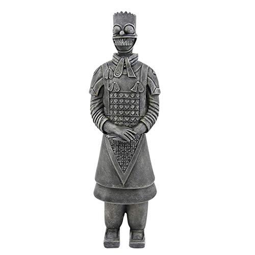 BULK Terrakotta Krieger Figur Modell Chinesisch Terrakotta-Krieger der Qin-Dynastie Skulptur-Statuen Zuhause Dekoration Kunsthandwerk Handgemacht Kulturelle Relikte 17 * 13 * 51Cm