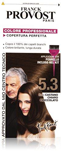 Franck Provost Colorazione Permanente Capelli, Tinta Copertura Ottima, Colore Professionale, 5.3 Castano Chiaro Cioccolato