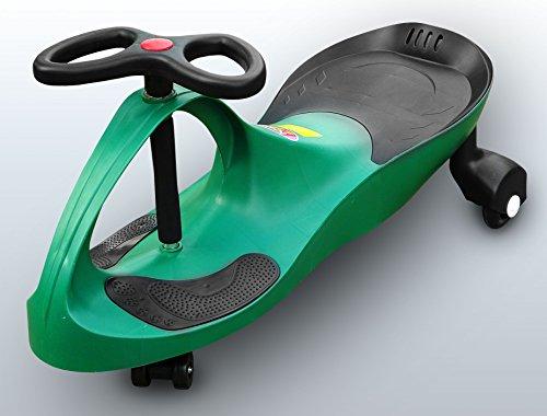 RIRICAR Grün Spielzeugauto für Kinder - Antrieb durch Lenkbewegung, mit Flüsterrädern
