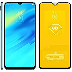 ADRY 6D Full Edge to Edge Full Glue 9H Hardness Anti Scratch Full HD Tempered Glass Guard for Oppo Realme 2 Pro
