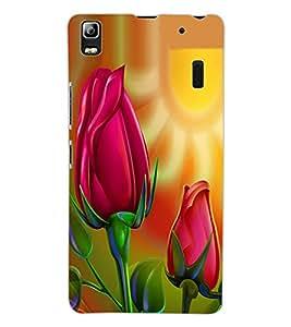 ColourCraft Love Flowers Design Back Case Cover for LENOVO A7000
