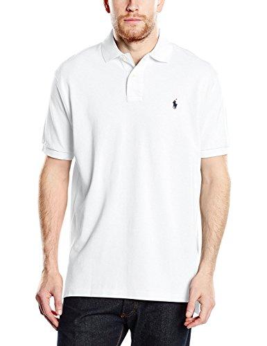 Ralph Lauren Classic Fit Polo - Kurzarm Polo - Weiß (White (Navy Pony), L)