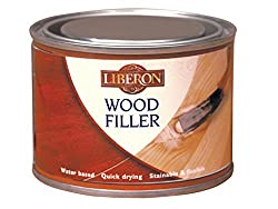 Liberon Multi-Purpose Wood Filler Tin 125 ml - Antique Pine, light wood color