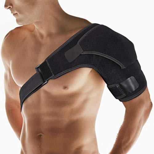 Schulter Bandagen, LolStore Verstellbare Schulterbandage Sport Schulterunterstützung Schulterstütze Support herren & Frauen Unterstützung der Schulter mit Klettverschlüsse für Schulterluxation Leidet