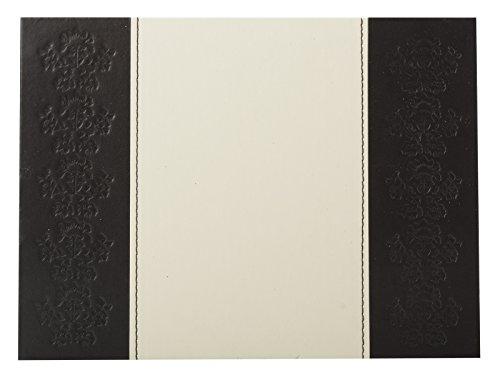Faux 2 Stück Top (Creative Tops Platzsets, geprägtes Kunstleder braun & creme, 4Stück)