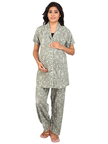 Vixenwrap Olive Green Printed Maternity Suit