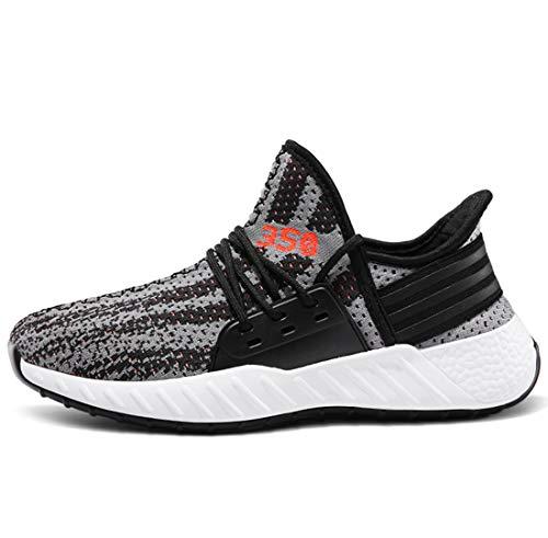 enschuhe Atmungsaktiv Sport Casual Shoes Fashion Trends Studenten Hundert-Stil Kokos Nuss Schuhe,Gray,40 ()