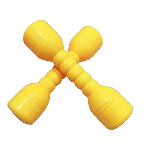 Preisvergleich Produktbild hou zhi liang Neopren Hand Hanteln für Kinder Gewichte Fitness Home Gym Übung Barbell Kinder Fitness Sport Spielzeug (Gelb) 2