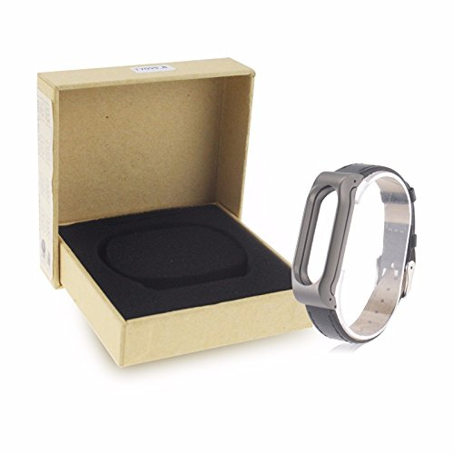 VAN+ Unisex verstellbar Leder Handgelenk Band Ersatz-Armband Strap für Xiaomi Mi Band 2 Smart Armband - 6