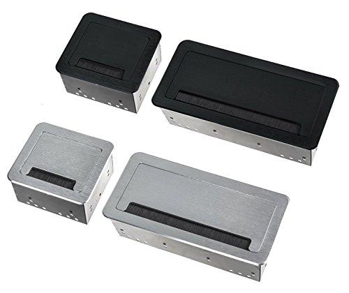 M65 - Einbausteckdose in verschiedenen Farben - wahlweise mit oder ohne Internetanschluss (4er silber)