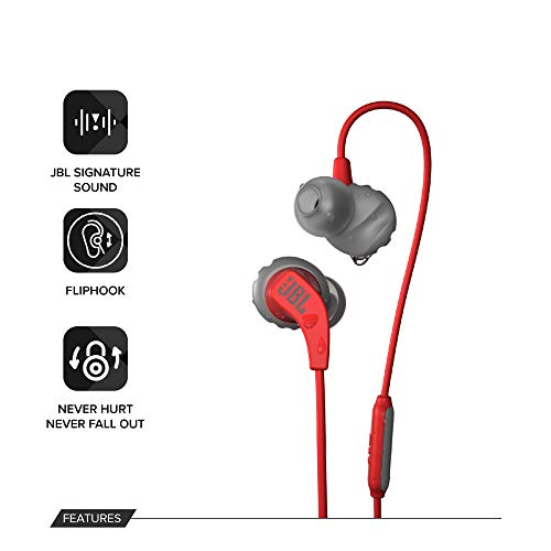 JBL Endurance Run Sweat-Proof Sports in-Ear Headphones with One-Button Remote and Microphone (Pink) Image 2