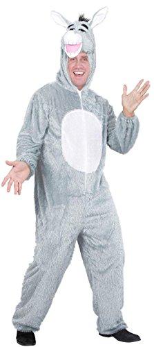 Widmann 9975C - Erwachsenenkostüm Esel, Overall mit Maske, Größe - Esel Kopf Kostüm