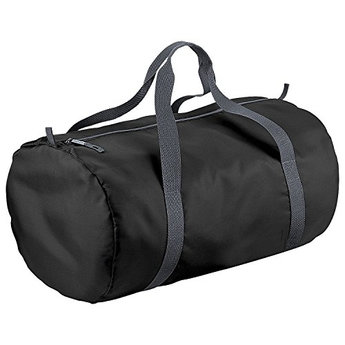 41R6c%2BcnuNL - BEST BUY #1 BagBase Packaway Barrel Bag / Duffle Water Resistant Travel Bag (32 Litres) (One Size) (Black) Reviews and price compare uk