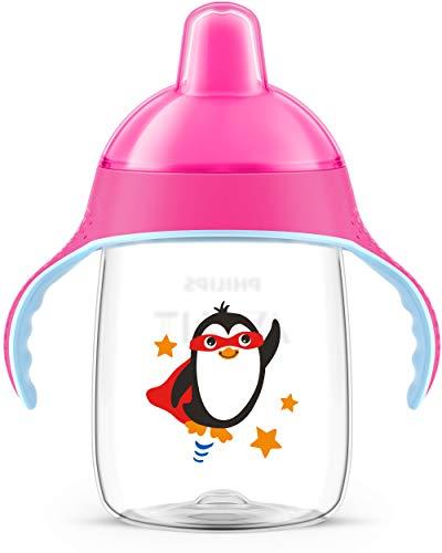 Philips Avent Trinklernbecher, beißfester Trinkschnabel, SCF755/07, ab 18.Monat, pink, 340ml