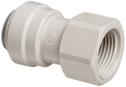 John Guest Acetal Copolymer Tube Fitting, Flat End Adaptor, 3/8 Tube OD x 3/8 BSP Female (Pack of 10) by John Guest -