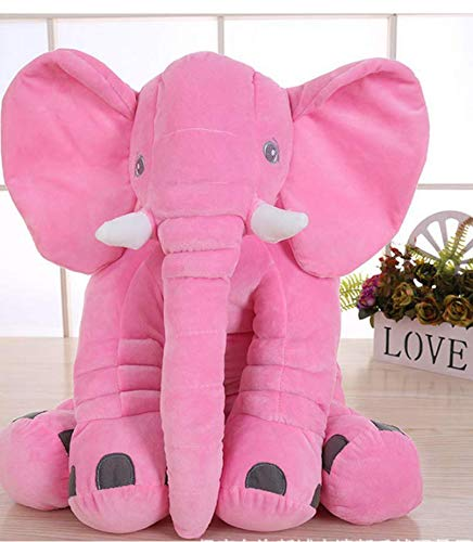 lzpoyaya Baby Krippe Elefant Plüschtier, Weiche Kuscheltiere Puppen, Neugeborenen Kissen Kissen, Bettwäsche Für Kinder Spielzeug 1 Stücke (Rosa) 28X33 cm