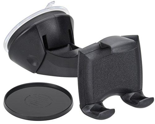 hr-imotion kompakte Universal Halterung Quicky für alle Smartphones & Handys zwischen 58 und 84mm  | Made in Germany | 360 Grad drehbar | vibrationsfrei | Einhandbedienung] - 22011101