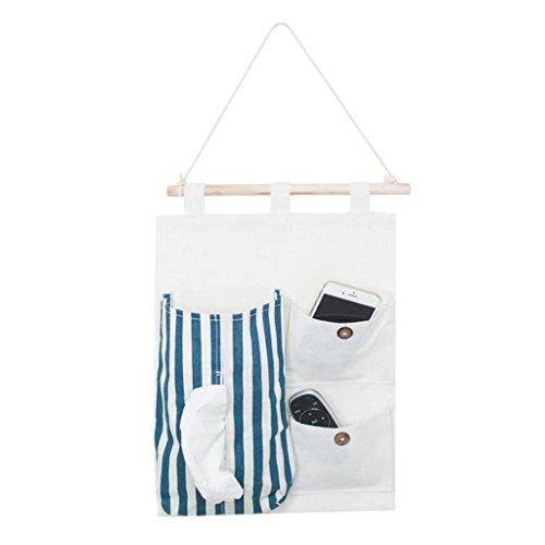 Linge de lit à trois grilles de papier suspendu Sac suspendu Porte pendulaire de poche après le sac de collecte de débris Rollsnownow