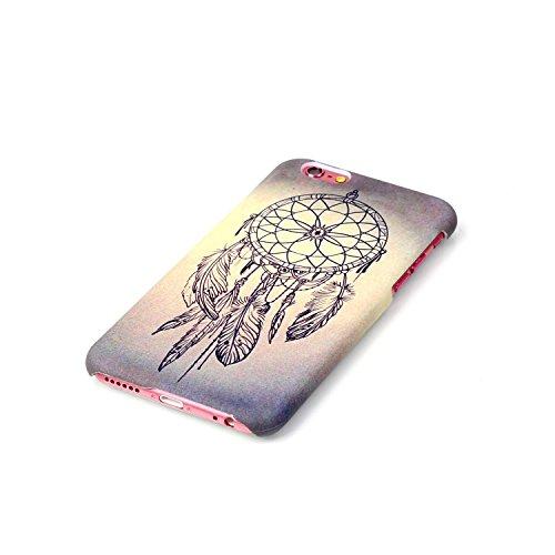 Etsue Coque pour Apple iPhone 6/6S 4.7,PC Plastique Coloré Phone Case Cover pour Apple iPhone 6/6S 4.7,Plastique Hard Housse pour Apple iPhone 6/6S 4.7,Panda Ciel Fleur Coloré Motif Design PC Case pou Campanule
