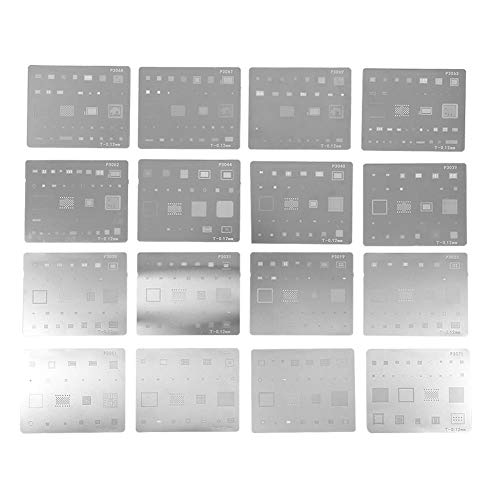 16 stücke IC Chip BGA Reballing Schablone Kits Solder Template für iPhone