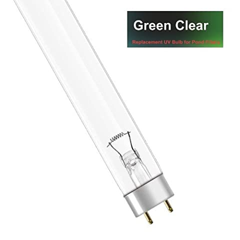 Genuine Green Clear 15W WATT UV BULB (15w) - REPLACEMENT T8 LAMP FOR POND UVC (ULTRA-VIOLET)