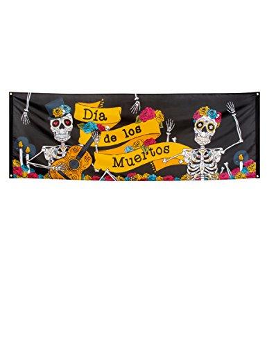 NEU Banner Day of the Dead, 74x220 cm (Tag Der Toten Kostüme Für Kinder)
