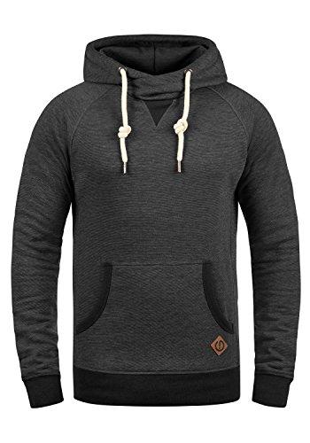 !Solid VituCross Herren Kapuzenpullover Hoodie Pullover Mit Kapuze Und Cross-Over-Kragen Fleece-Innenseite, Größe:L, Farbe:Med Grey (8254)
