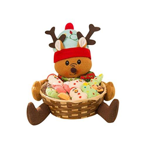 Preisvergleich Produktbild Malloom® Weihnachts Süßigkeiten Ablagekorb Dekoration Weihnachtsmann Ablagekorb Geschenk (F)