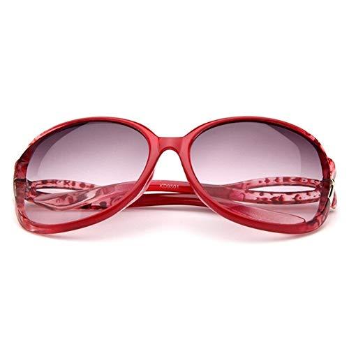 Schmetterling Spiegel Fuß Sonnenbrille Frauen Kunststoff Ovale Sonnenbrille Luxus Reise Uv400 (Lenses Color : Q1)