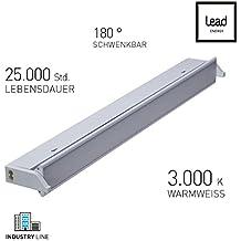 Réglette LED ECO |Tube lumineux | ECO ECL600 | Eclairage LED cuisine | Extensible | Flexible | 10W | Aluminium | 3000K Blanc chaud | 60 cm