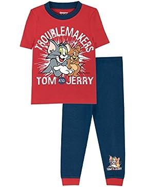 Tom & Jerry - Pijama para Niños - Tom y Jerry - Ajuste Ceñido