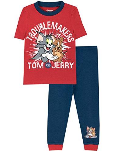 Copripiumino Tom E Jerry.Tom Jerry Ensemble De Pyjamas Tom Et Jerry Garcon Bien Ajuste Multicolore Taille 4 5 Ans