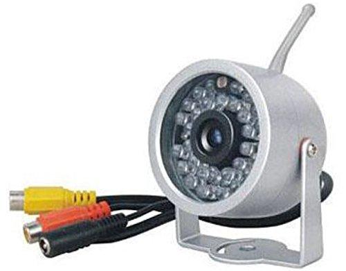 814T-Kx Farb Funk Nachtsicht Aussen Kamera mit Netzteil mit Video und Audio (TON) 2,4 GHZ, 12V , 10mW , PAL/NTSC Kanal 1 bis 4 verfügbar von KesCom® Kx Audio